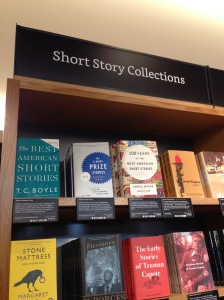 It's cool that they have a section for short story collections, at least!